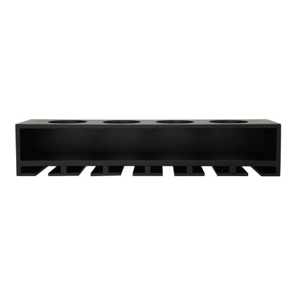 Claret 22 in  W x 4 in  D Black Wine Bottle and Glass Holder Wall Shelf