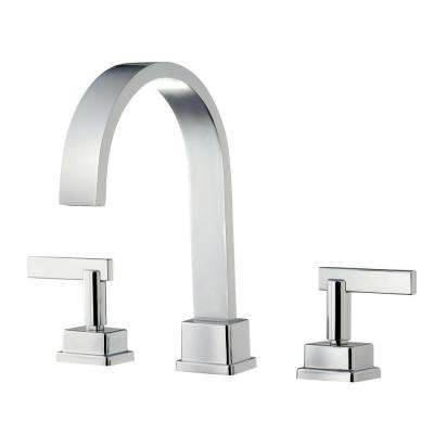 Schon 2-Handle Deck-Mount Roman Tub Faucet in Chrome