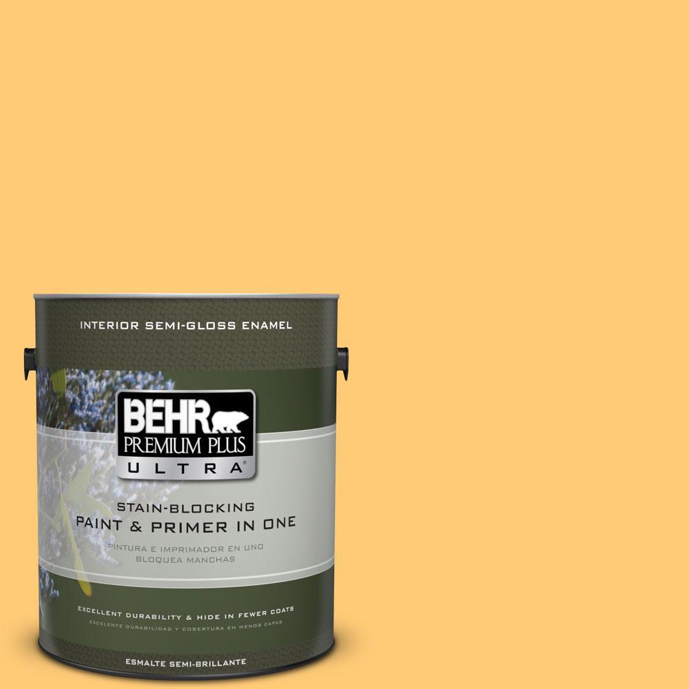 1-gal. #310B-5 Spiced Butternut Semi-Gloss Enamel Interior Paint
