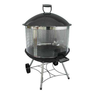 Heatwave 28 in. Steel Outdoor Fireplace with Cover