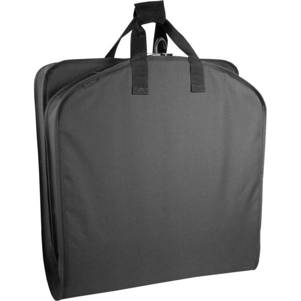WallyBags 40 in. Black Suit Length Carry-On Garment Bag 756 BLK