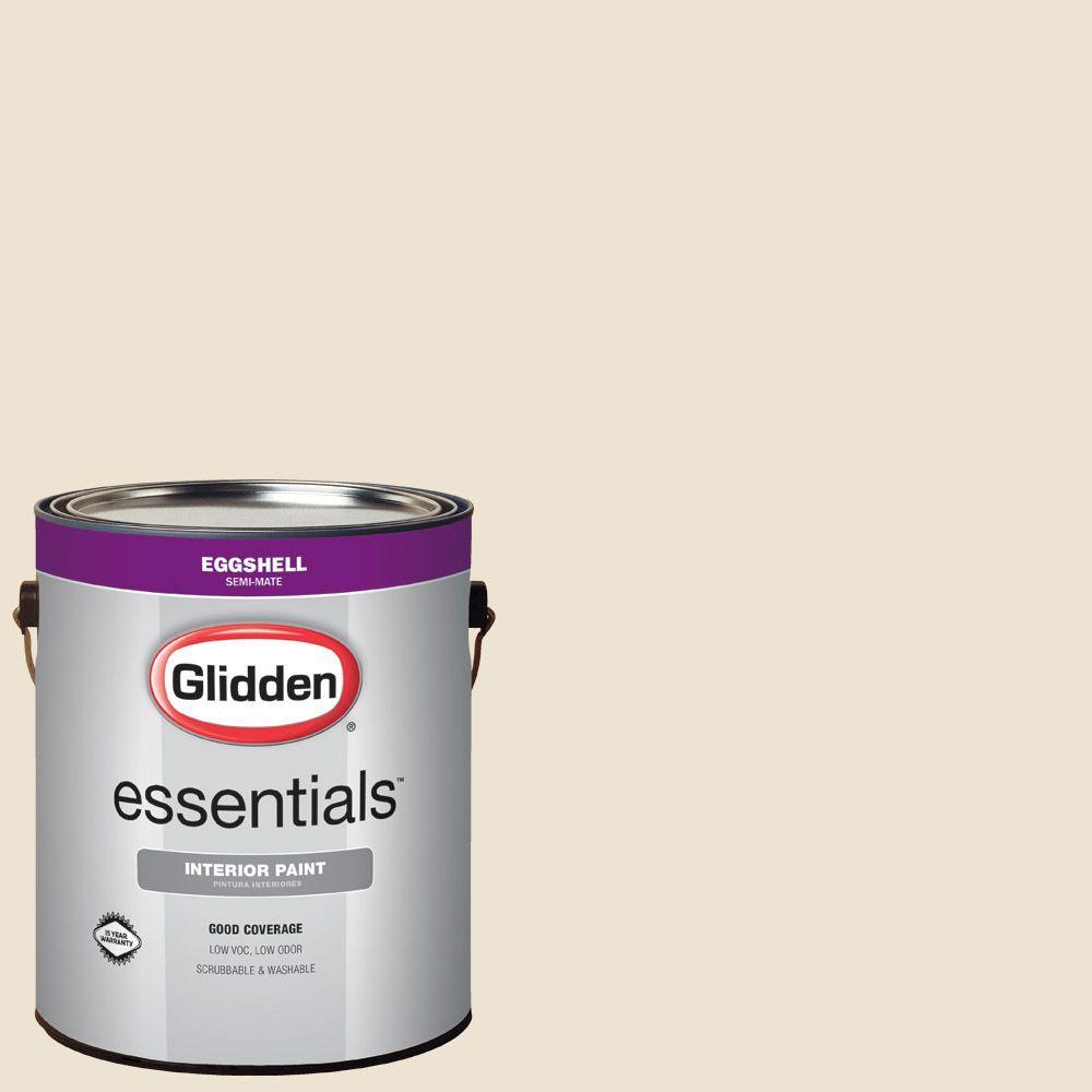 Glidden Essentials 1 Gal Hdgwn31 Elegant Ivory Cream Eggshell Interior Paint