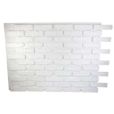 Faux Reclaimed Brick 32 in. x 47 in. x 3/4 in. Panel Dove White