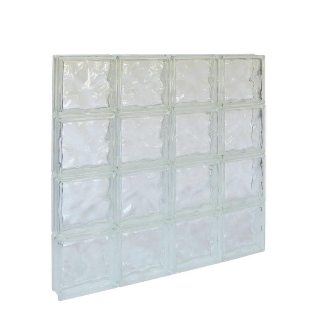 Pittsburgh Corning 31 in. x 31 in. x 3 in. Decora Pattern Solid Glass Block Window