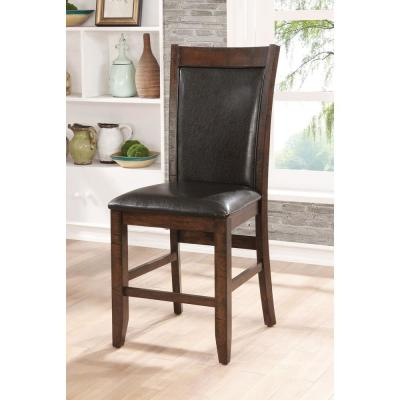 Maegan II Brown Cherry Transitional Style Side Chair
