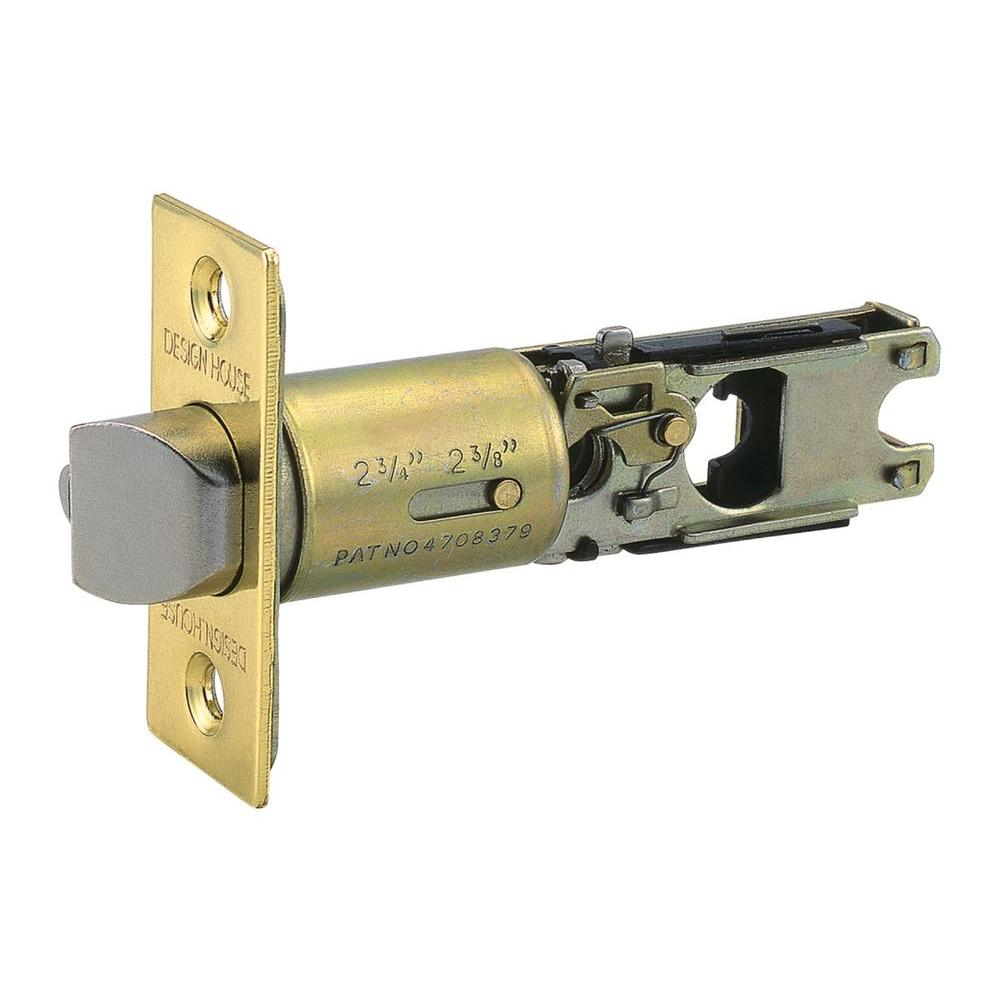 Design House Polished Brass 2-Way Replacement Entry Latch