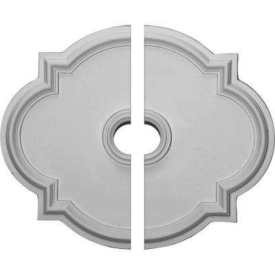 24 in. W x 20-1/2 in. H x 1-1/8 in. P Waltz Ceiling Medallion (2-Piece)