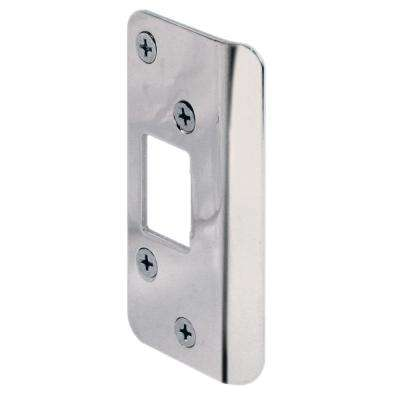 Nickel Plated Continuous Lip Door Strike
