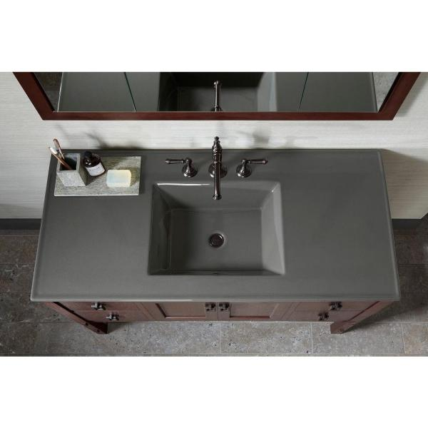 Kohler Ceramic Impressions 49 In Vanity Top With Basin In White Impressions K 2783 8 G81 The Home Depot