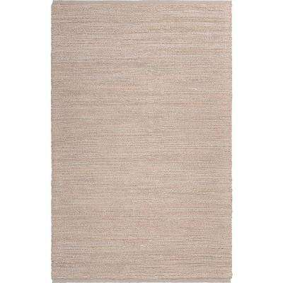 Bleached Naturals Beige Blush 8 ft. x 10 ft. Braided Natural Jute Area Rug