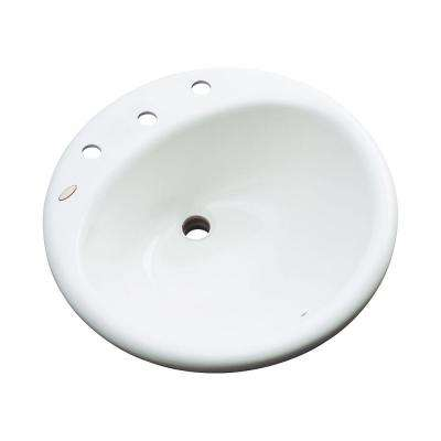 Clarington Drop-In Bathroom Sink in White