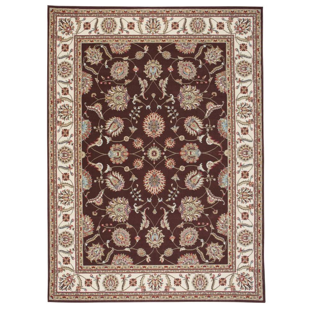 Nourison Modesto Vines Brown 5 ft. 3 in. x 7 ft. 3 in. Area Rug