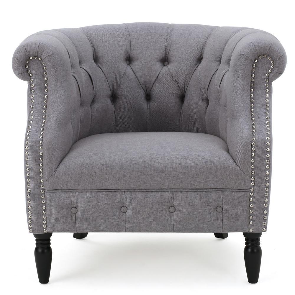 Akira Light Grey Club Chair