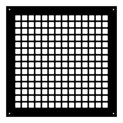Square Series 14 in. x 14 in. Steel Grille, Black with Mounting Holes