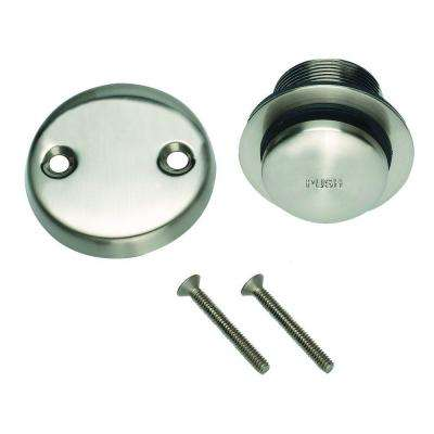 Toe Tap Bath Drain in Satin Nickel