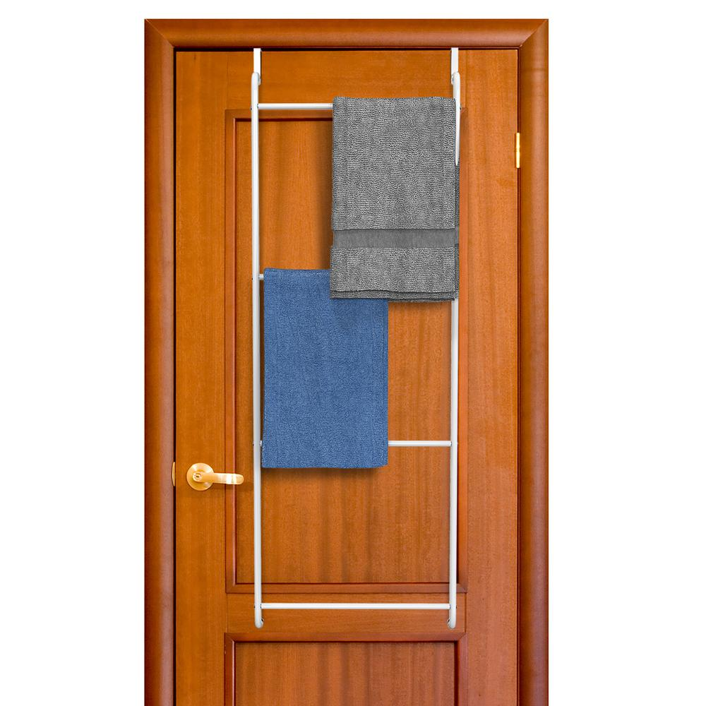 Lavish Home Over the Door Towel Rack and Clothing Hanger Organizer