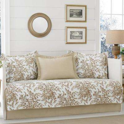Bedford 5-Piece Brown Daybed Set