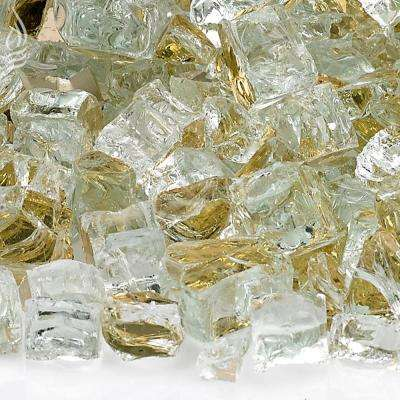 1/2 in. Gold Reflective Fire Glass 10 lbs. Bag