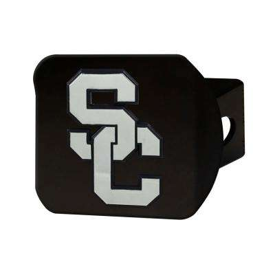 NCAA University of Southern California Class III Black Hitch Cover with Chrome Emblem