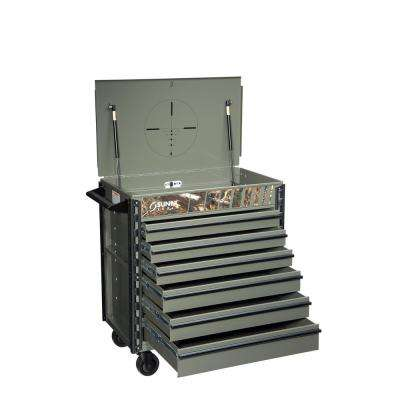 38 in. Premium Full 6-Drawer Service Utility Cart in Camo