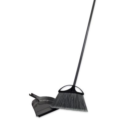 13 in. Extra Wide Angle Broom with Dustpan