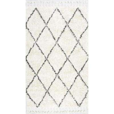 Fez Shag Natural 4 ft. x 6 ft. Area Rug
