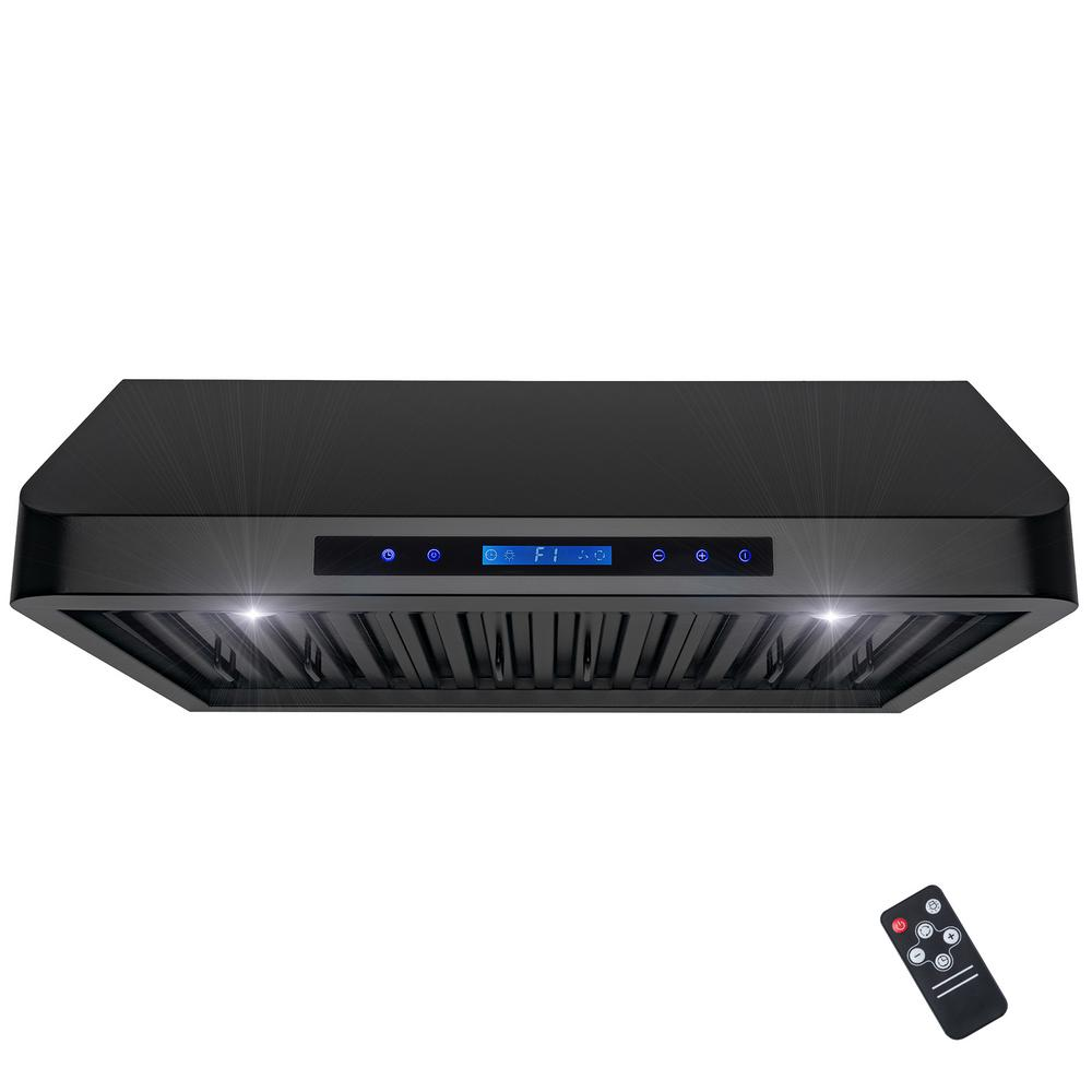 akdy 30 in under cabinet range hood in stainless steel with leds and touch controls rh0347 the. Black Bedroom Furniture Sets. Home Design Ideas