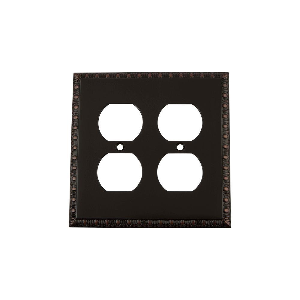 Bronze 2-Gang Duplex Outlet Wall Plate (1-Pack)