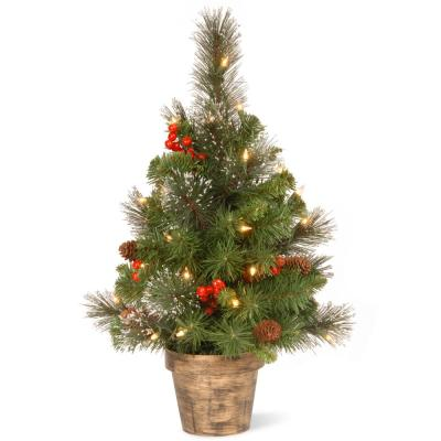 24 in. Crestwood Spruce Tree with Clear Lights