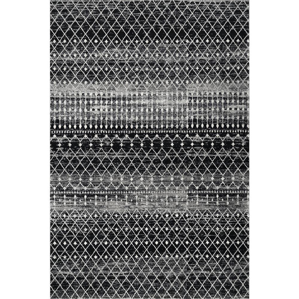Blythe Modern Moroccan Trellis Black 8 ft. x 10 ft. Area Rug