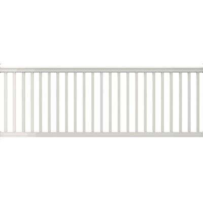 Premier Series 10 ft. x 42 in. White PolyComposite Rail Kit with Square Balusters