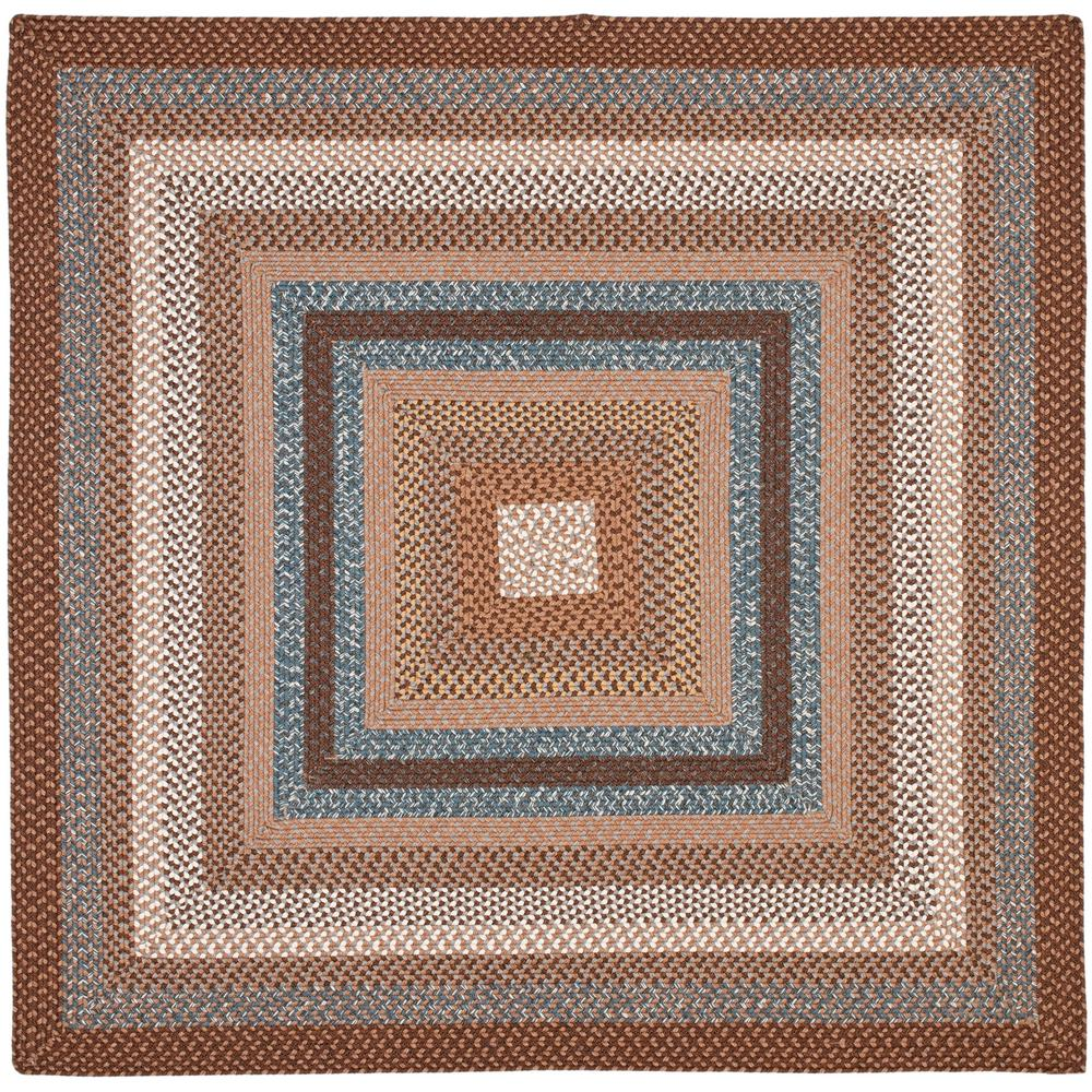 Safavieh Braided Brown Multi 4 Ft X 4 Ft Square Area Rug