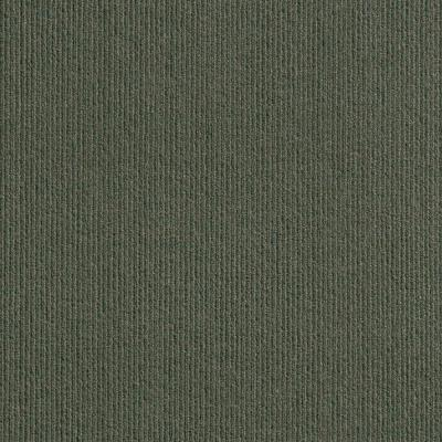 Peel and Stick First Impressions High Low Rib Olive Texture 24 in. x 24 in. Commercial Carpet Tile (15 Tiles/Case)