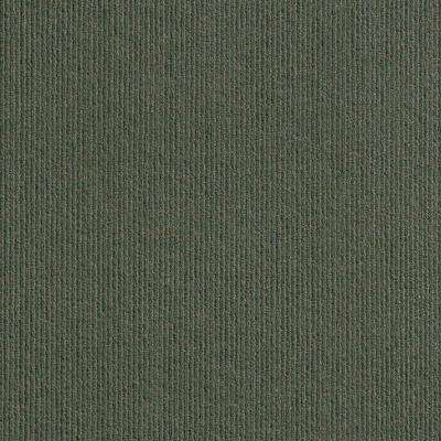 Premium Self-Stick First Impressions High Low Rib Olive Texture 24 in. x 24 in. Carpet Tile (15 Tiles/60 sq. ft./case)