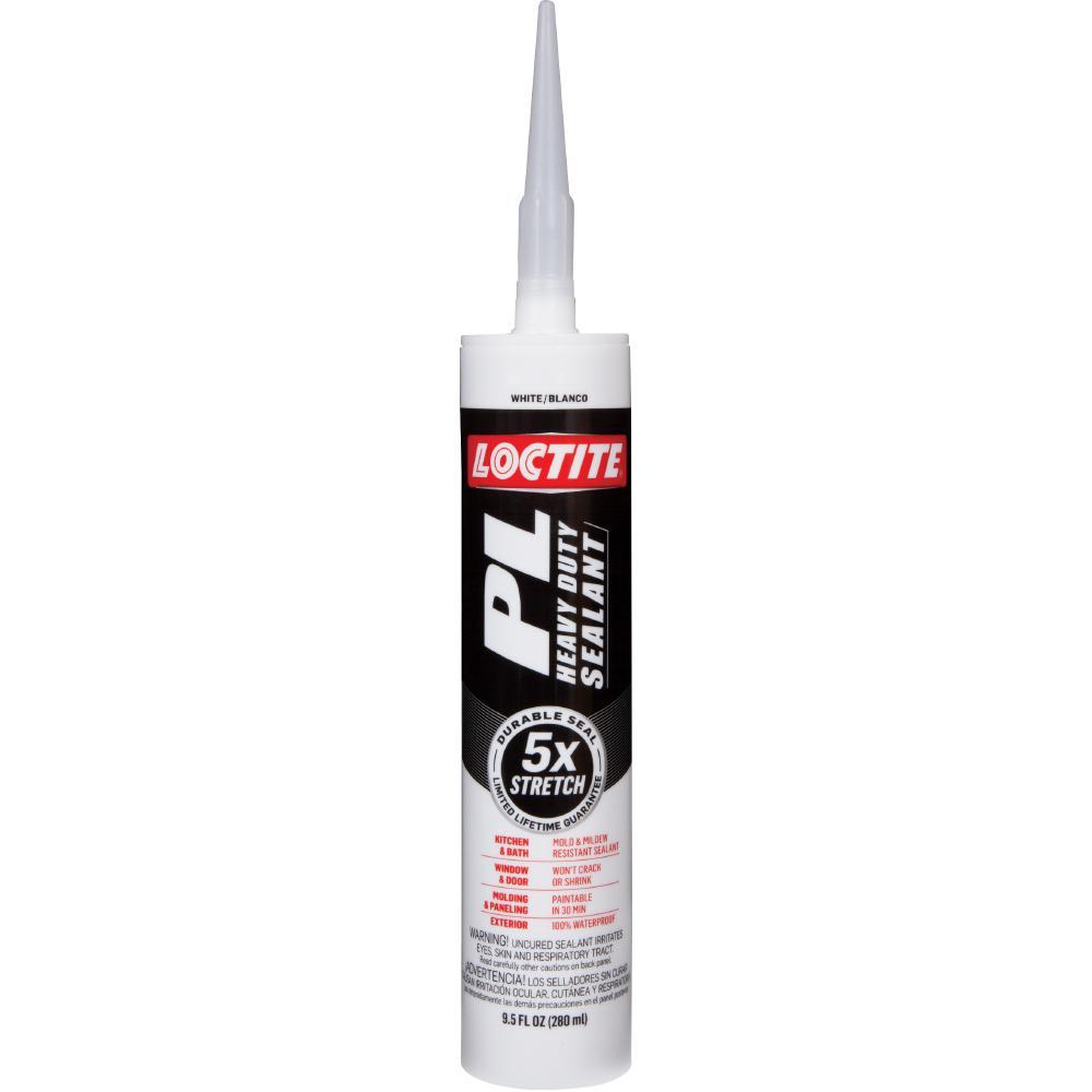 Loctite pl 9 5 fl oz white heavy duty sealant 2163657 - Best caulk for exterior painting ...