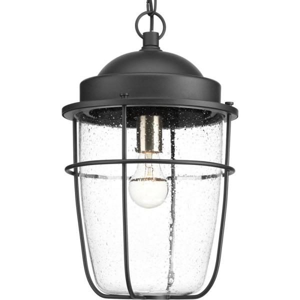 Holcombe Collection Black 1-Light Outdoor Hanging Lantern