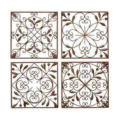 Victorian Style Brown Metal Wall Decor