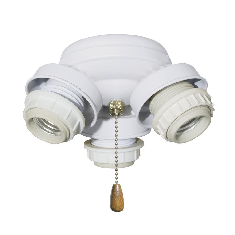 3-Light Appliance White Turtle Fitter