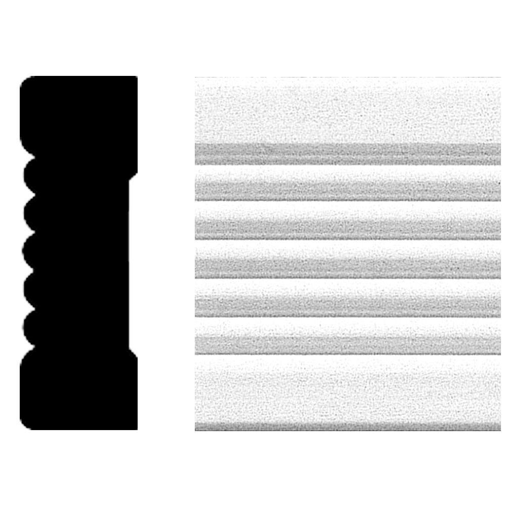 3/4 in. x 2-1/4 in. x 8 ft. MDF Fluted Casing