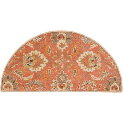 Vitrolles Rust 2 ft. x 4 ft. Hearth Indoor Area Rug