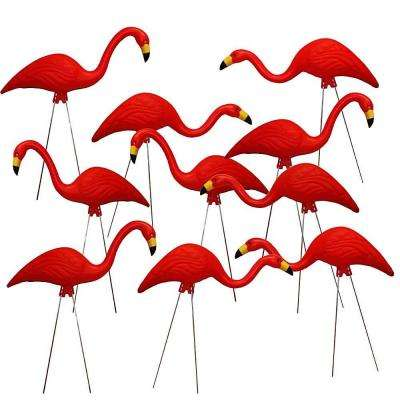 TEAMingos 26 in. Red Flamingo (10-Pack)