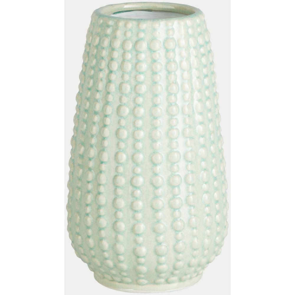 Jimos 9.65 in. Light Green Ceramic Decorative Vase