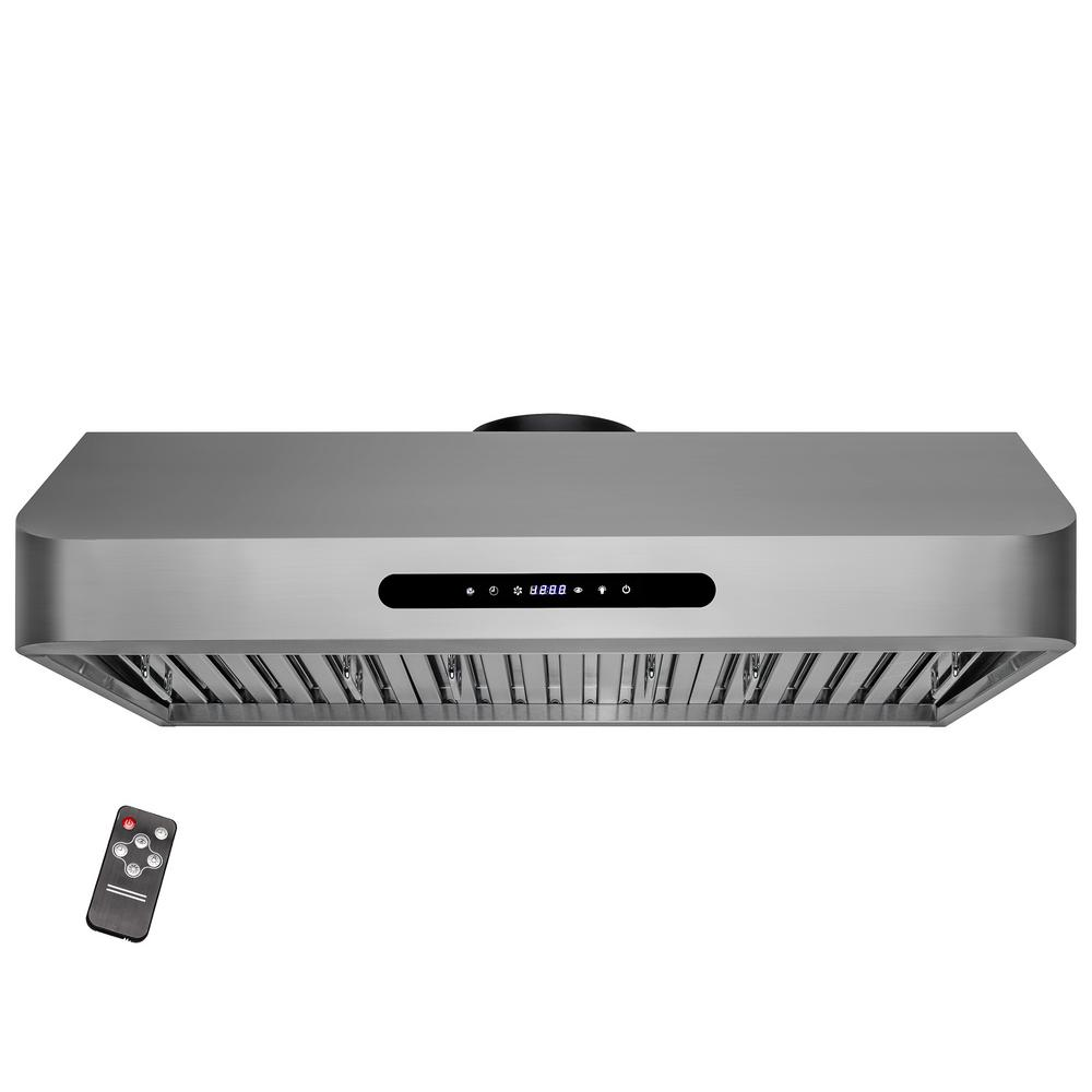 36 in. 400 CFM Under Cabinet Range Hood in Stainless Steel