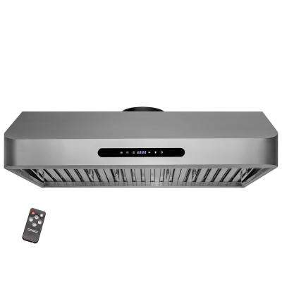 36 in. 400 CFM Under Cabinet Range Hood in Stainless Steel with LED Lighting