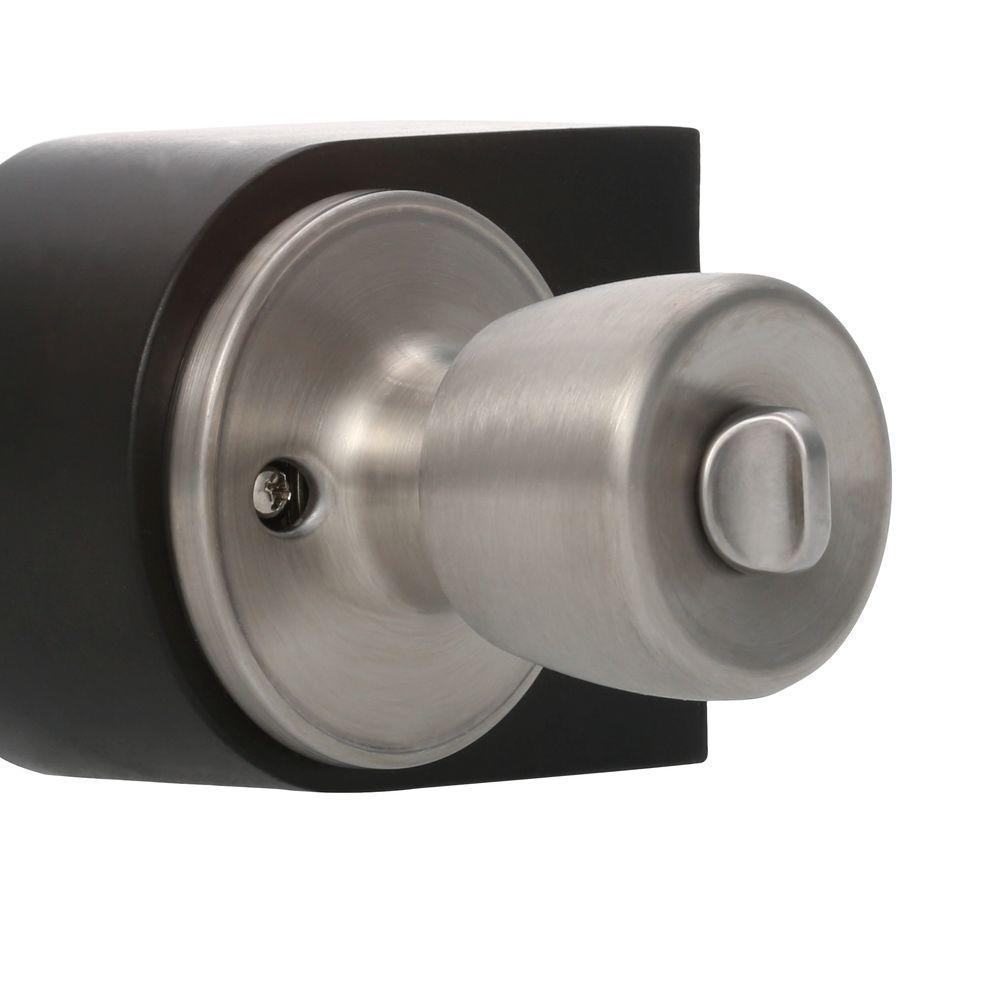 Home door knob privacy lock bedroom bathroom stainless - Bathroom door knobs with privacy lock ...