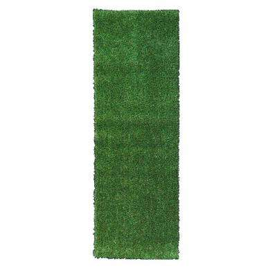Grassland Collection 2 ft. 7 in. x 9 ft. 10 in. Indoor/Outdoor Artificial Grass Synthetic Lawn Turf