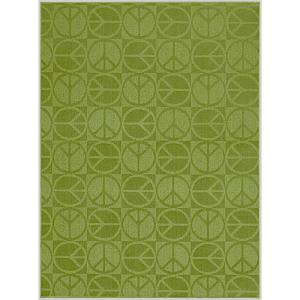 Garland Rug Large Peace Lime 5 Ft X 7 Ft Area Rug Cl 17