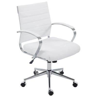 Tremaine White Office Chair