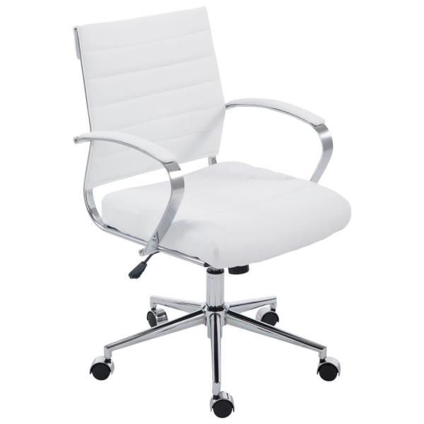 Poly And Bark Tremaine White Office Chair