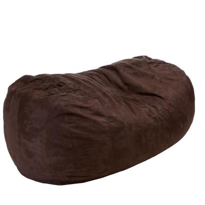 8 ft. French Roast Suede Microfiber Double-Stitched Bean Bag